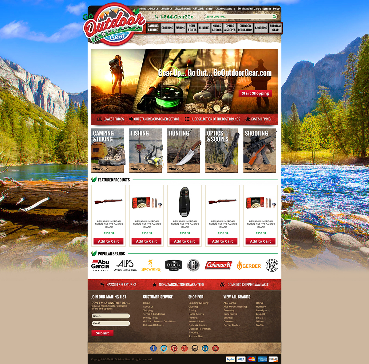 go outdoor gearcustom bigcommerce theme