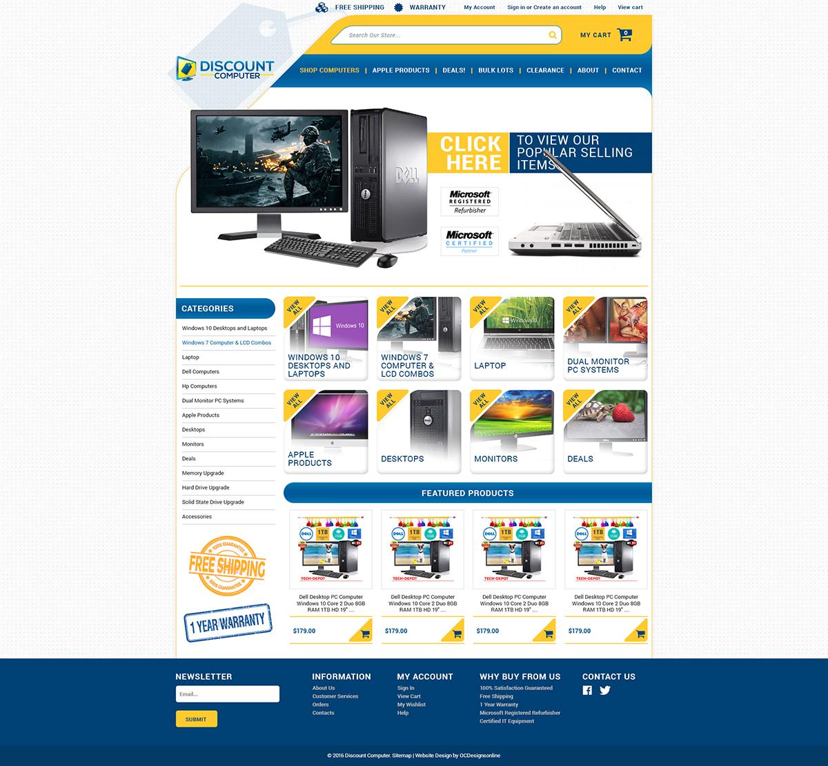 Amazon webstore design template for Amazon design shop