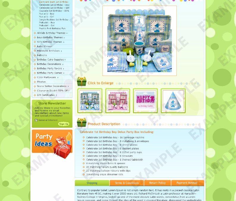 Fazu EBay Template Children Kids Theme 1296