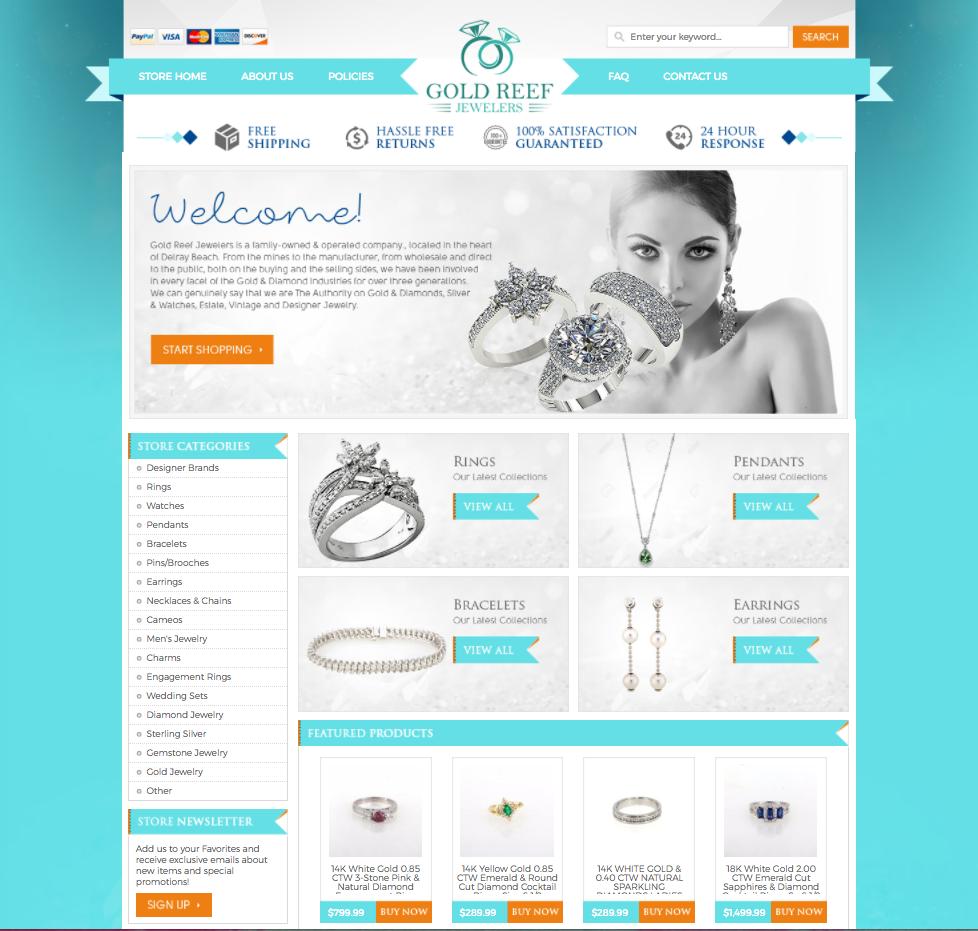 jewelry ebay store design