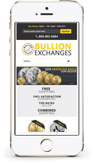 Bullion Exchanges Custom eBay Store design and eBay template mobile