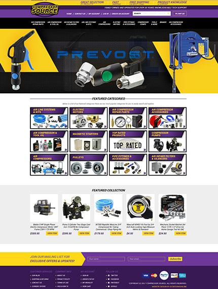 Compressor Source Shopify store