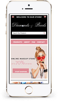 Diamonds Pearls Custom Shopify Theme mobile