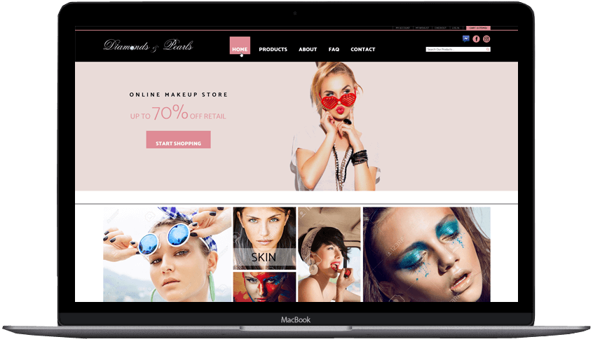 Diamonds Pearls Custom Shopify Theme