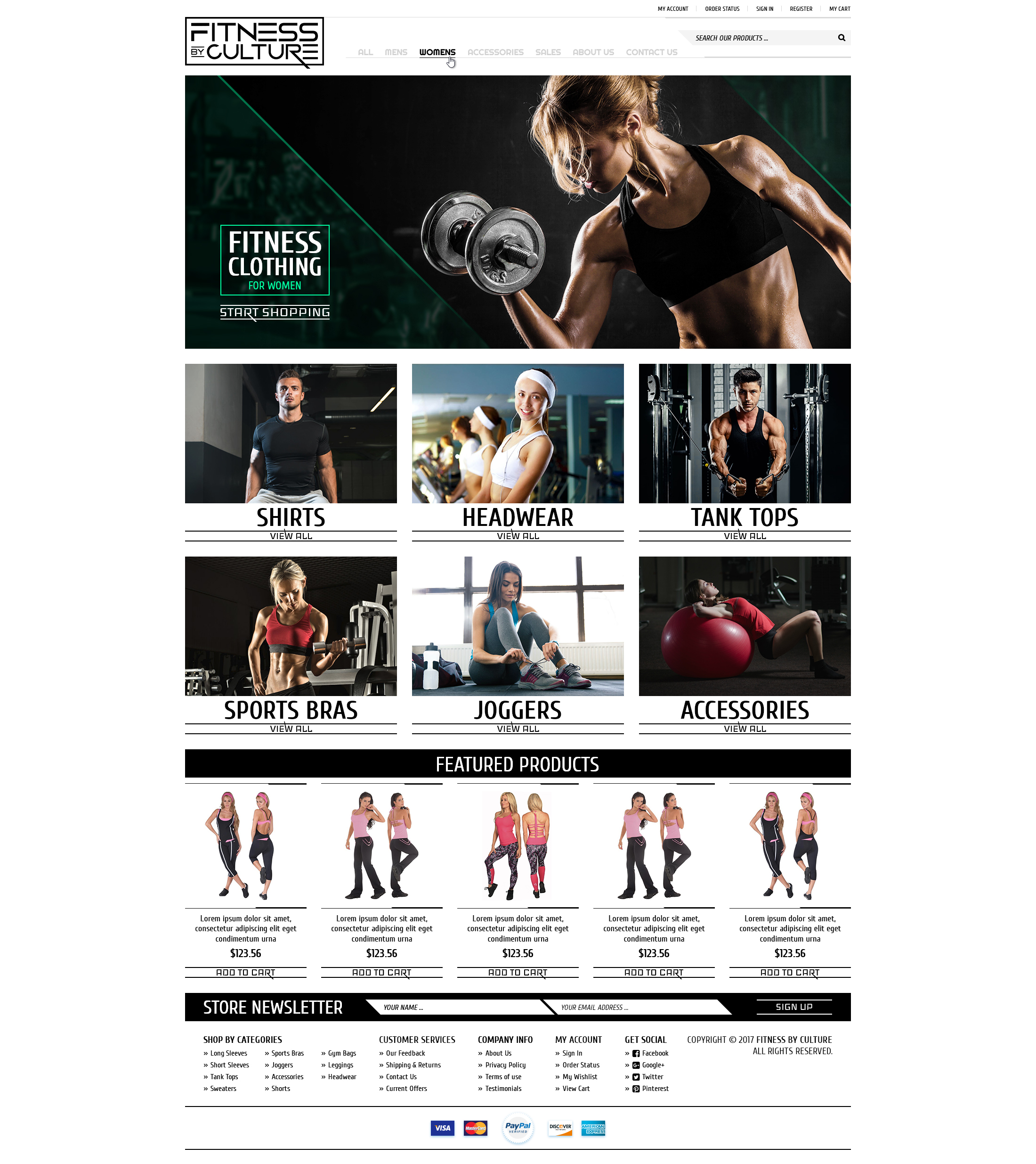 Fitness by Culture BigCommerce store 02