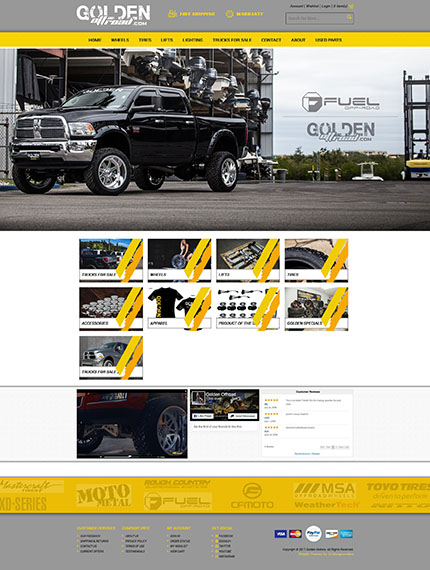 Golden Offroad Shopify store
