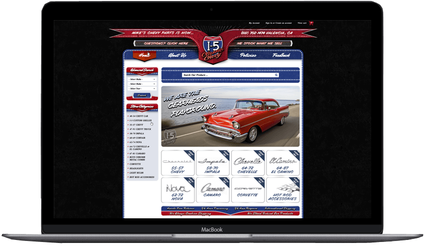 I 5 Classic Chevy Bigcommerce Theme