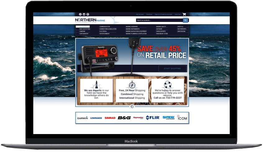 Northern Marine Bigcommerce Theme Design