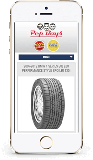 Pep Boys Custom eBay store design mobile