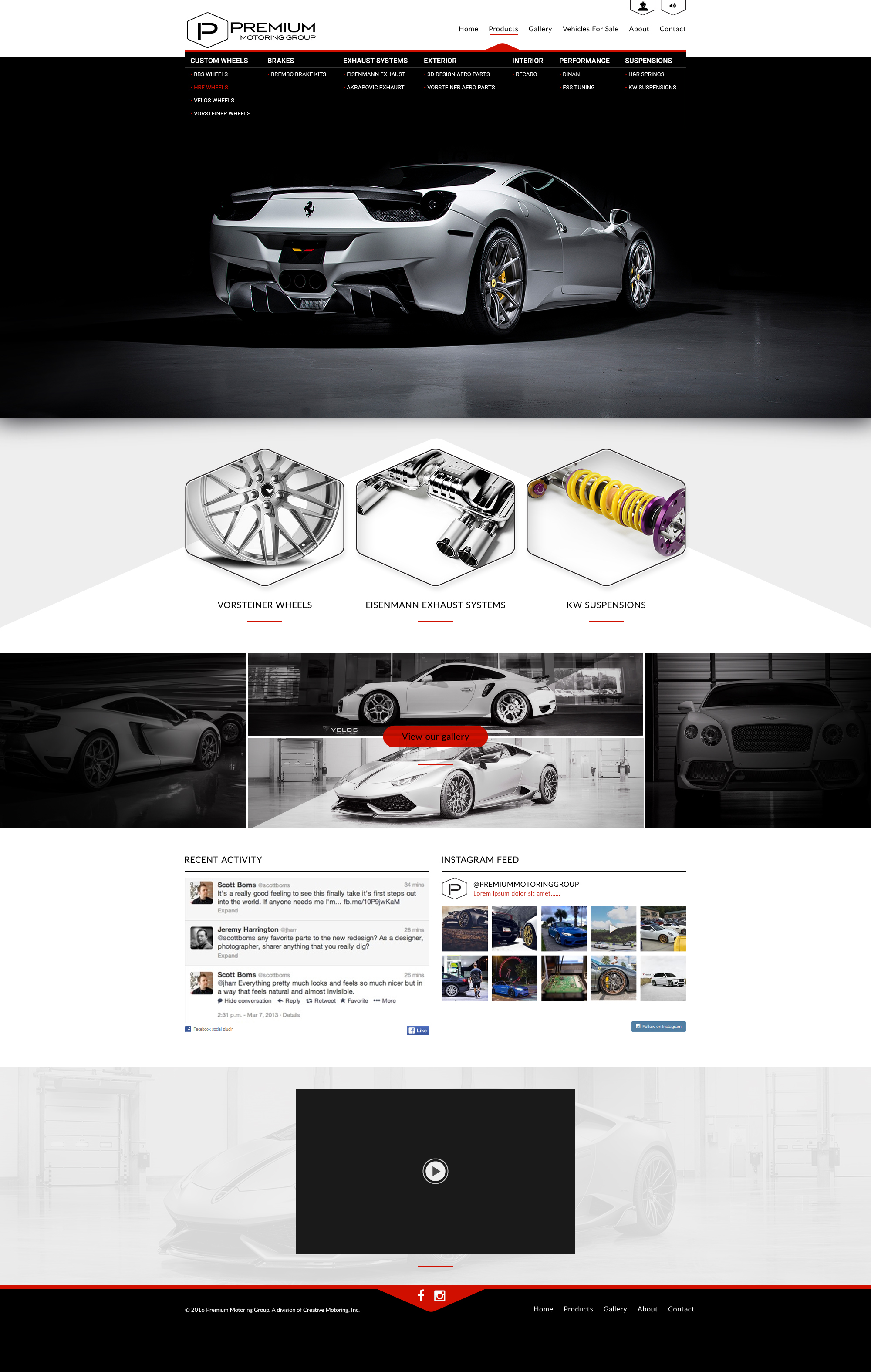Premium Motoring wordpress home v6