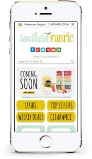Southern Fabric Bigcommerce Theme Design mobile