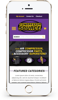 Compressor Source custom shopify theme mobile