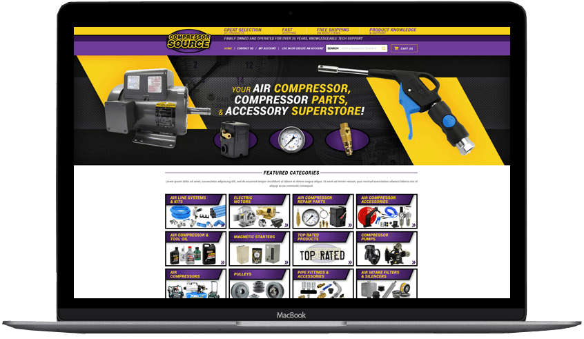 Compressor Source custom shopify theme