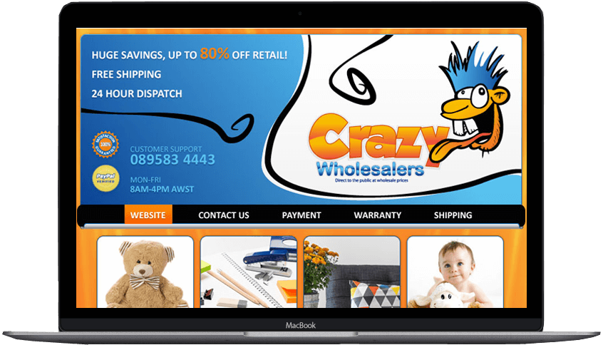 Crazy Wholesalers Facebook Landing Page designs