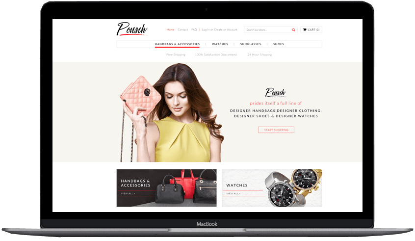 Custom Shopify theme pousch