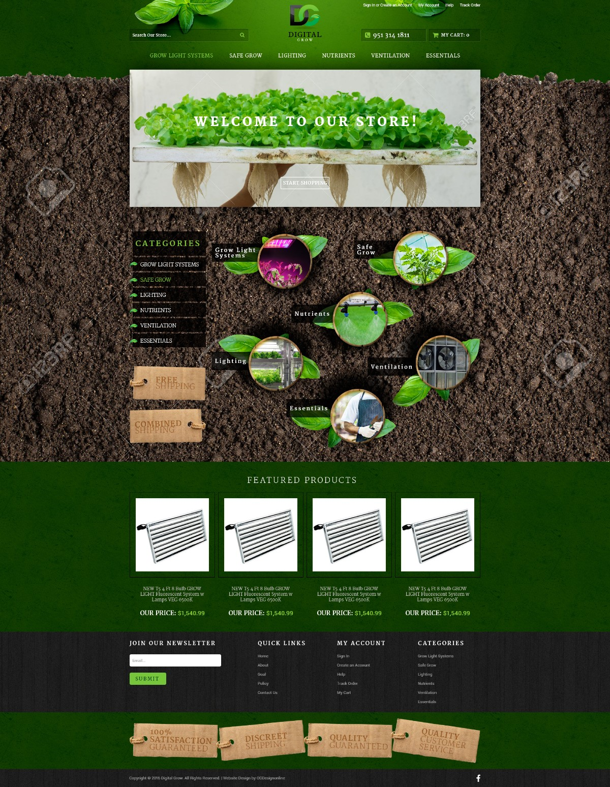 DigitalGrow Responsive Volusion Store v3