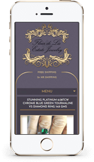 Fleur de Lis custom eBay store front and listing template mobile