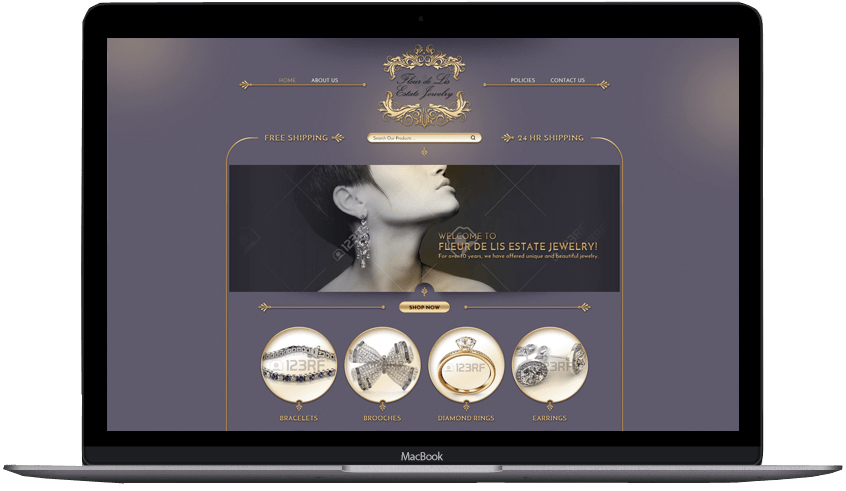 Fleur de Lis custom eBay store front and listing template