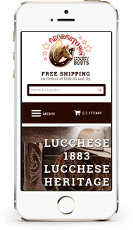 George Town Cowboy Boots custom bigcommerce theme mobile
