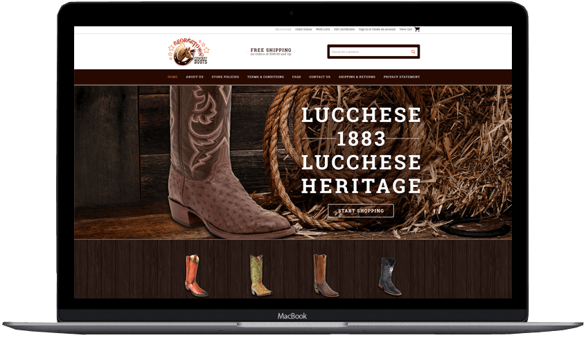 George Town Cowboy Boots custom bigcommerce theme