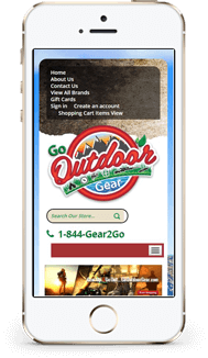 Go Outdoor Gear custom bigcommerce theme design mobile