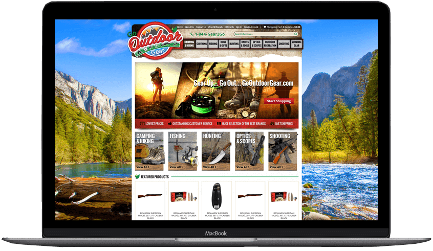Go Outdoor Gear custom bigcommerce theme design