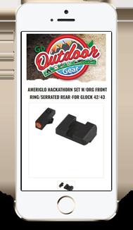 Go Outdoor Gear eBay Store Design and eBay Template Design mobile