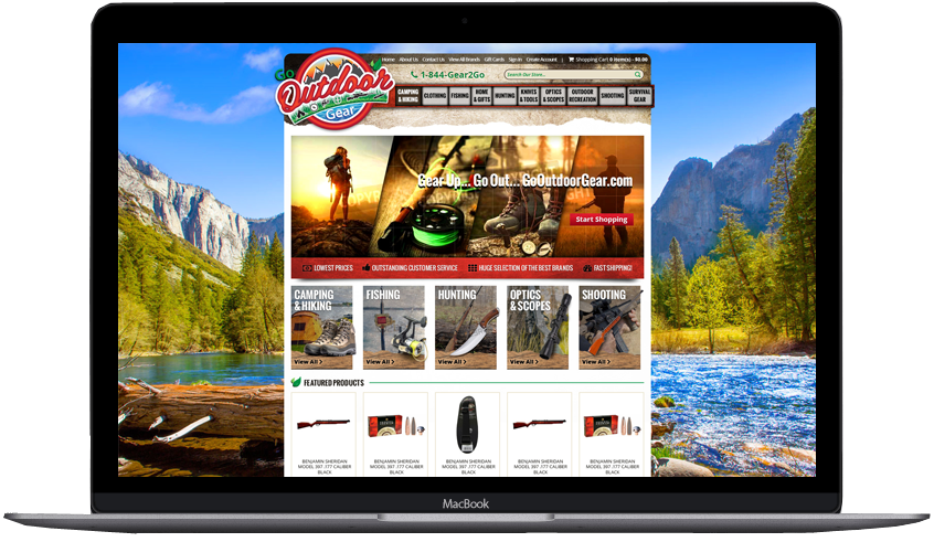 Go Outdoor Gear eBay Store Design and eBay Template Design