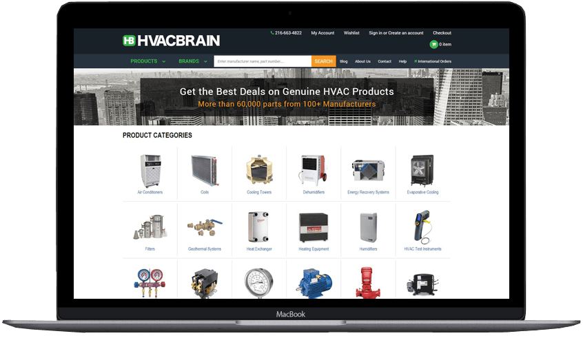 HVAC Custome bigcommerce theme