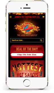 Hot Sauce custom bigcommerce store design mobile
