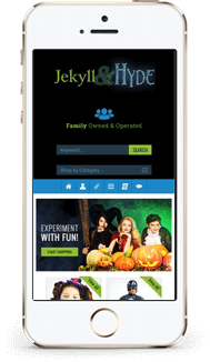 Jekyll Hyde custom ebay store front and template mobile