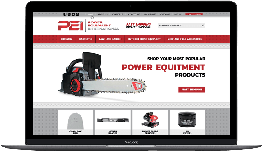 Power Equitment International Bigcommerce custom theme