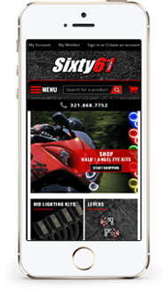 Sixty 61 custom volusion store design mobile