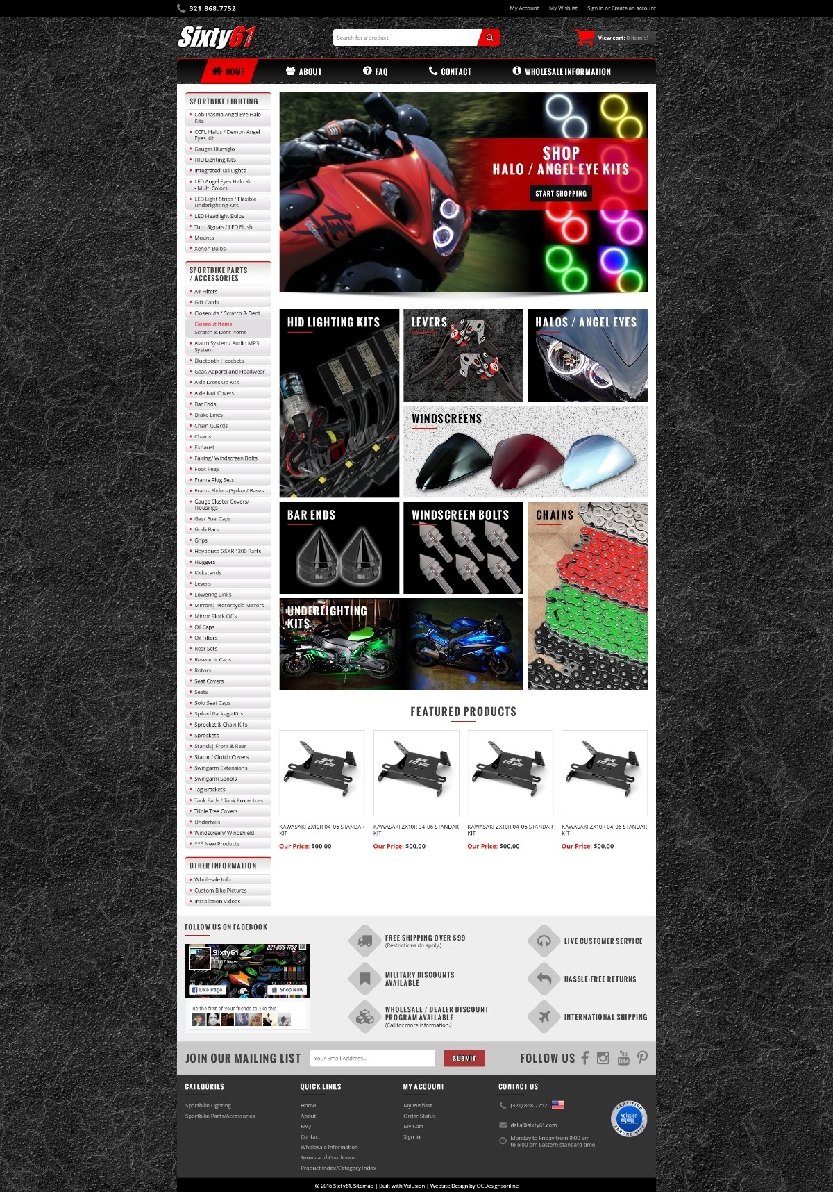 Sixty61 Responsive Volusion Store V5