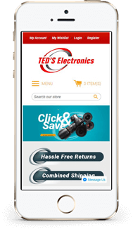 Ted shopify theme mobile
