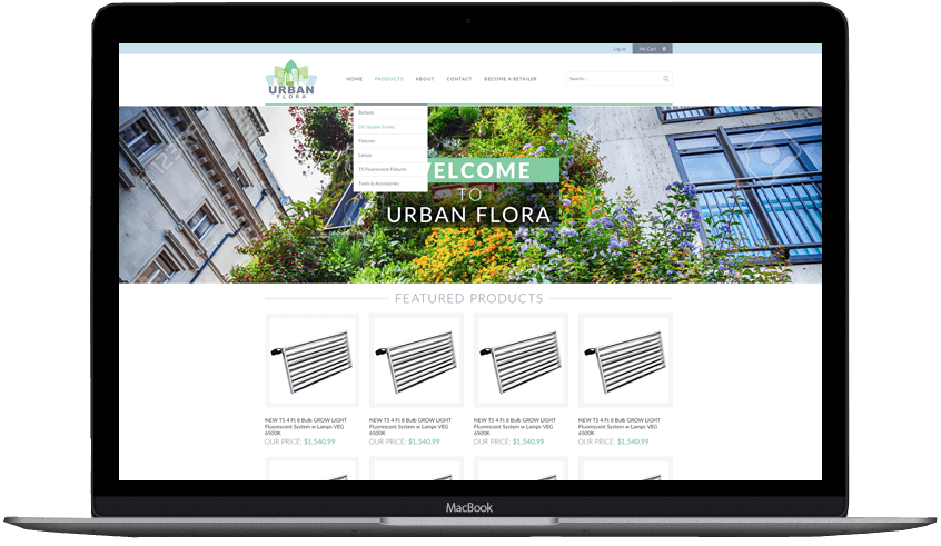 Urban Flora custom volusion theme design