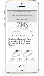 ZKS eBay store and listing template mobile