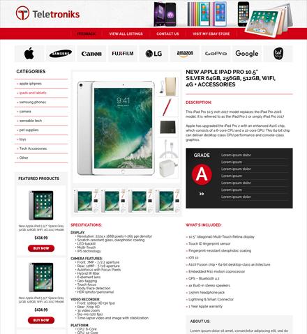 ebay listing template design services responsive html. Black Bedroom Furniture Sets. Home Design Ideas