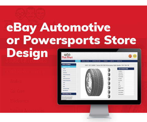 eBay Automotive or Powersports Store Design