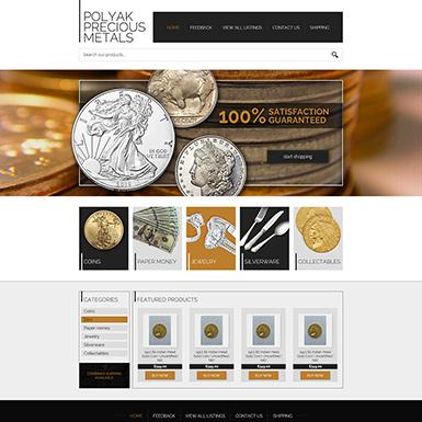 Polyak Precious Metals eBay store design