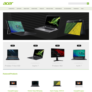 Acer eBay Store Homepage