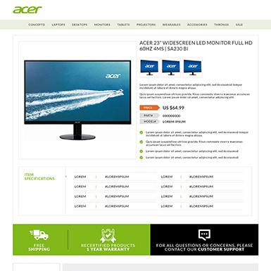 Acer eBay Description template