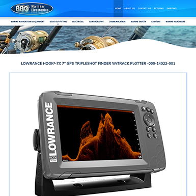 BBG Marine Bigcommerce Product pg design