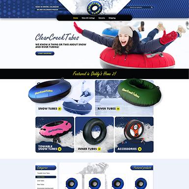 Clear Creek eBay store design