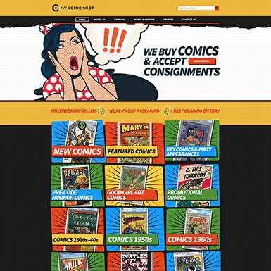 Comic eBay Store Design