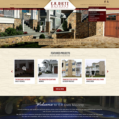 ER Dietz Masonry WordPress Website