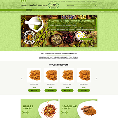 Holis Herb Bigcommerce Website Design
