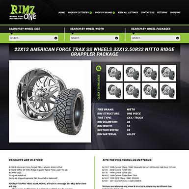 Rimz One eBay template