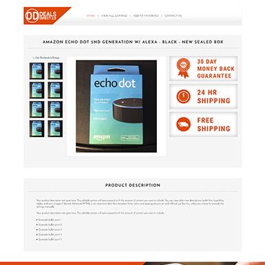 Direct Deals ebay listing template design