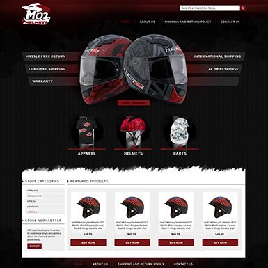 MO2 Helmets eBay store design